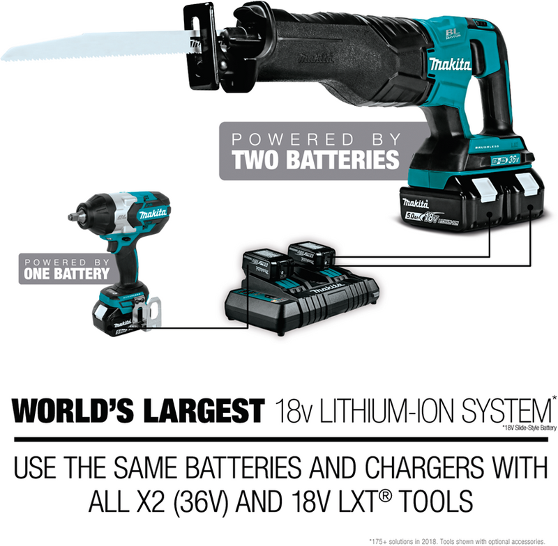18V LXT® Lithium‑Ion Cordless Compact Recipro Saw (Tool Only) (Pack of 6)