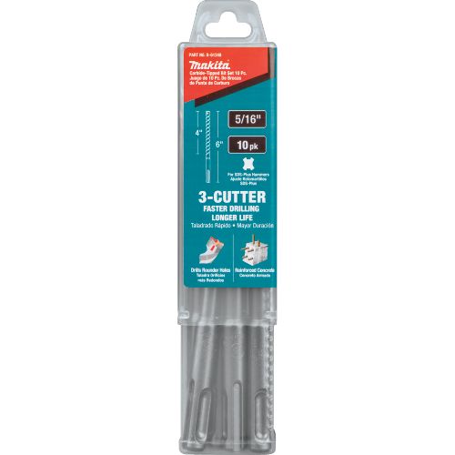 "Makita B-61248 5/16"" x 6"" SDS-PLUS Bit, 3-Cutter, 10/pk (Pack of 35)"