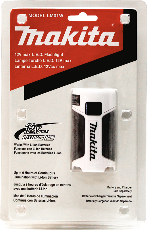 Makita LM01W 12V max Lithium-Ion L.E.D. Flashlight (Flashlight Only) (Pack of 10)