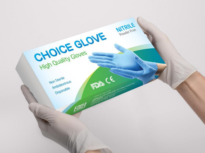 Choice Nitrile Exam Gloves, One Case