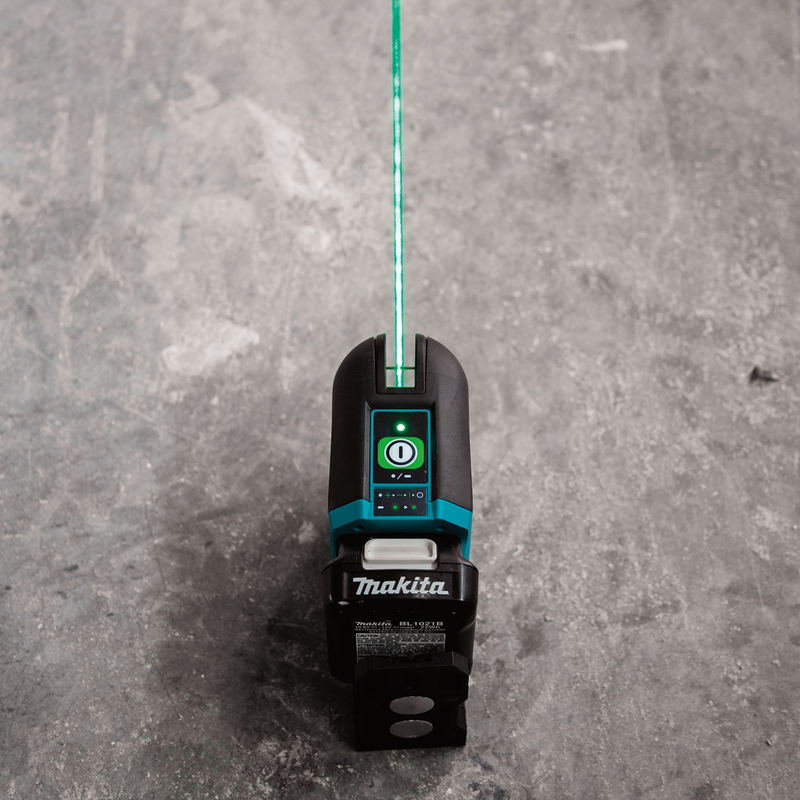 12V max CXT® Lithium‑Ion Cordless Self‑Leveling Cross‑Line Green Beam Laser Kit (2.0Ah)