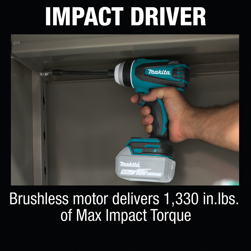 18V LXT® Lithium‑Ion Brushless Cordless Hybrid 4‑Function Impact‑Hammer‑Driver‑Drill, Tool Only (Pack of 6)