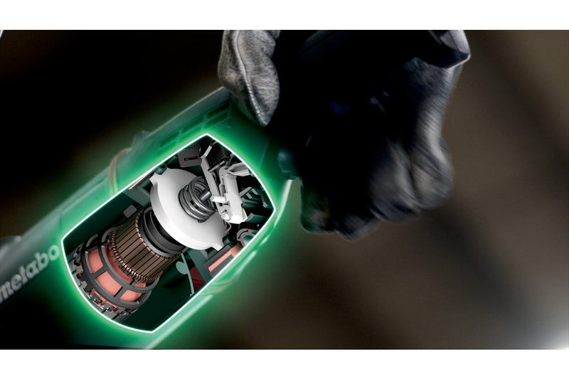 "Metabo 606479420 9"" Angle Grinder - 6,600 RPM - 15.0 Amp w/Brake, Non-Lock Paddle, Electronics"