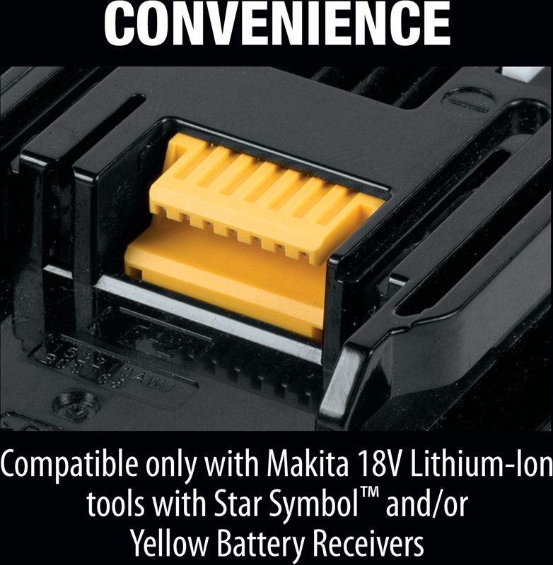 Makita BL1820B 18V LXT® Lithium‑Ion Compact 2.0Ah Battery (Pack of 6)