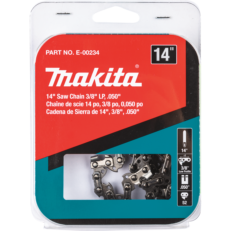 "Makita E-00234 14"" Saw Chain, 3/8"" LP, .050"" (Pack of 6)"