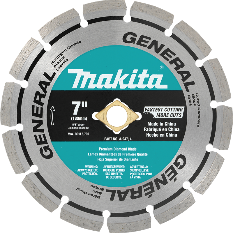 "7"" Diamond Blade, Segmented, General Purpose"