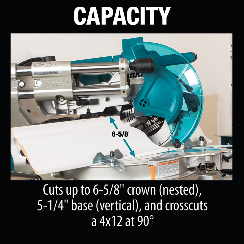 "Makita XSL04PTU 18V X2 (36V) LXT® Lithium‑Ion Brushless Cordless 10"" Dual‑Bevel Sliding Compound Miter Saw Kit, AWS™ and Laser (5.0Ah)"