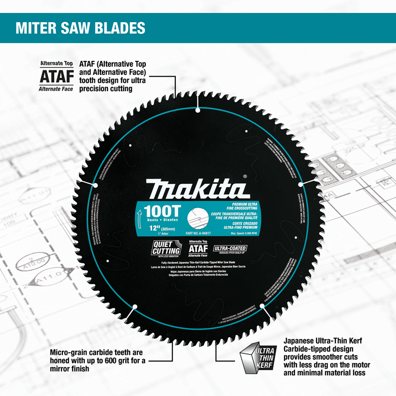 "12"" 100T Ultra‑Coated Miter Saw Blade"
