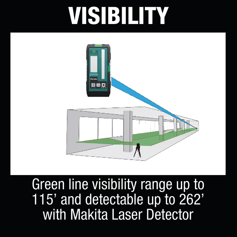 12V max CXT® Lithium‑Ion Cordless Self‑Leveling Cross‑Line/4‑Point Green Beam Laser, Tool Only (Pack of 10)