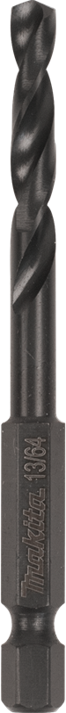 "Makita A-97798 13/64"" Black Oxide Drill Bit, 1/4"" Hex Shank (Pack of 200)"