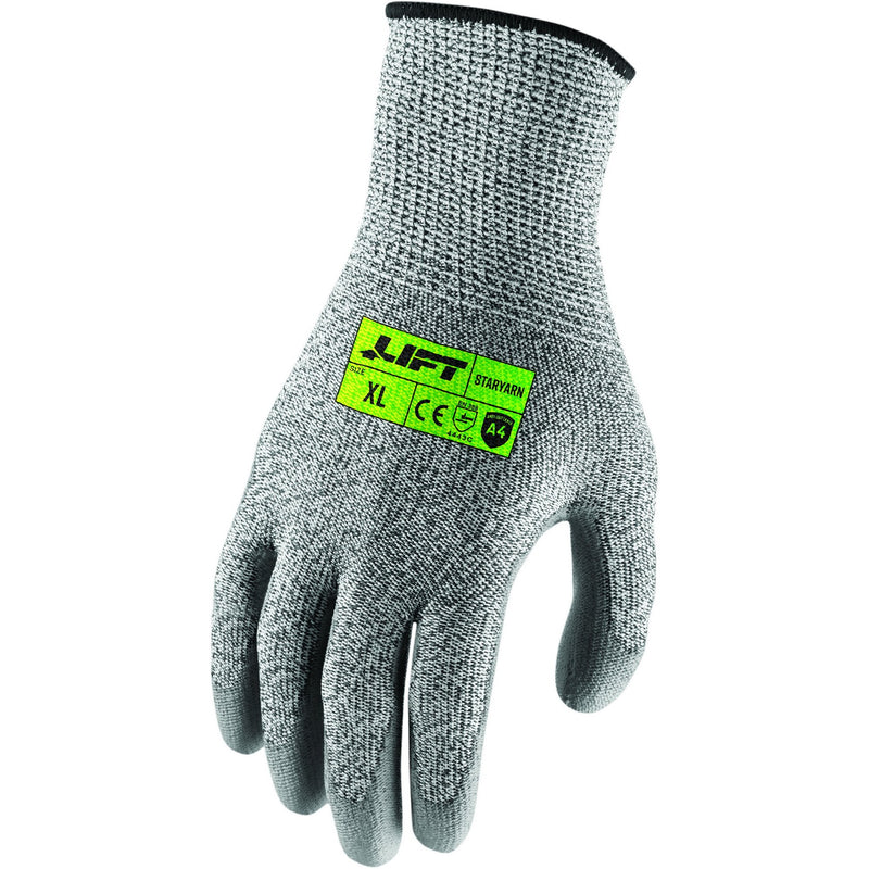 Lift Safety GSP-19YM - Lift Staryarn A4 Smooth PU Gloves(Case of 15 Pairs)