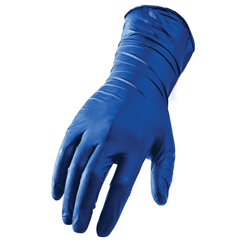 Lift Safety GLX-16BM - L-FLEX (Qty 50)- Disposable Latex Gloves 15 Mil Blue(Case of 6 Boxs)