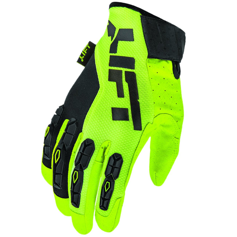 Lift Safety GRUNT Glove (Hi-Viz)- Synthetic Leather with TPR Guards (Case of 4 Packs)