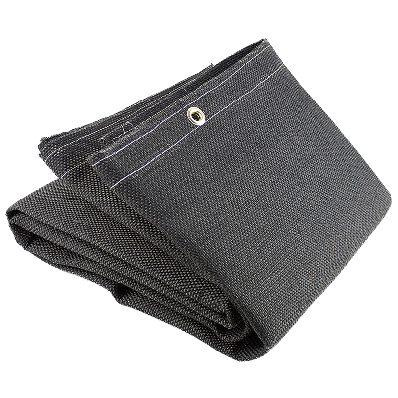 25 oz Welding Blanket with Vermiculite Coated Fiberglass Black(Case Of 6 Pcs)