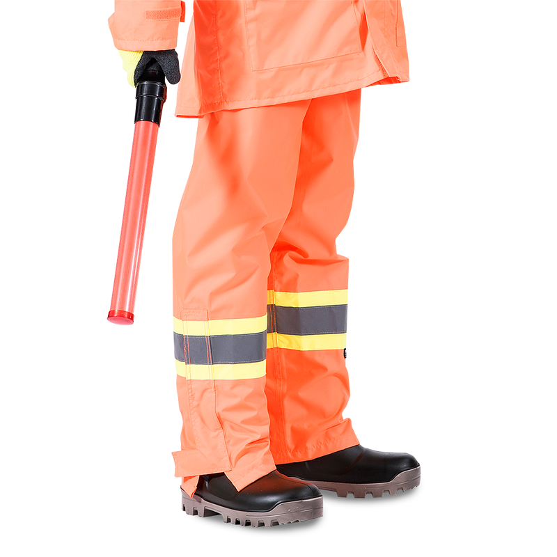 Pioneer V1090250U High Visibility Safety Work Pants with Adjustable Suspenders Orange (Case Of 24 Pcs)