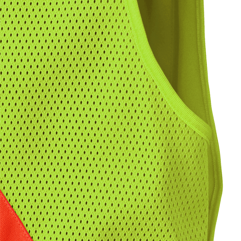 Pioneer V1021260U High Visibility Zip-Up Snap Tear-Away Safety Vest Neon Green Unisex (Case Of 24 Pcs)