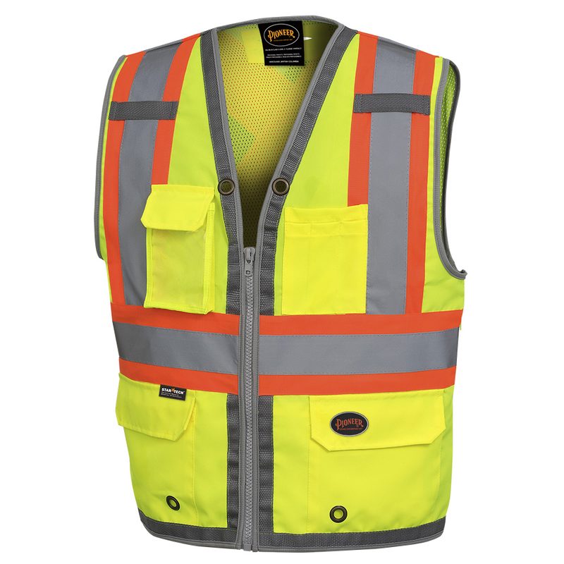 Hi-Viz Surveyor Mesh Back Safety Vest Green(Case Of 20 Pcs)