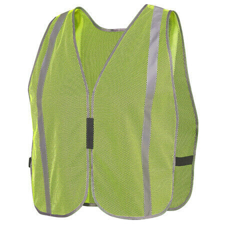 "Pioneer V1030760U-O/S Mesh Vest with 1"" Tape, Green(Case Of 20 Pack)"