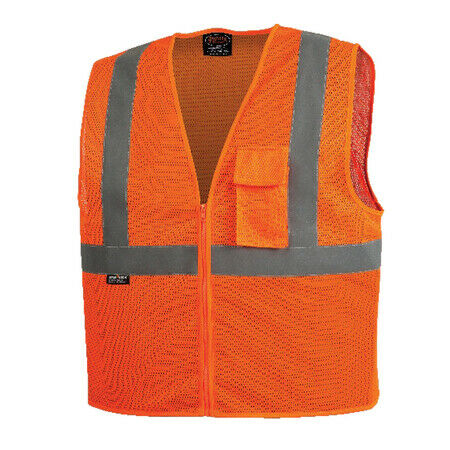 Pioneer Polyester Mesh Vest, Orange (Case Of 25 Pcs)