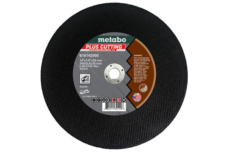 "Metabo 616142000 14""X1/8""X20MM - AC24R Plus, (Pack of 10)"