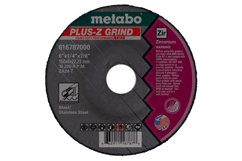 "Metabo 655789000 9"" X 1/4"" X 5/8""-11 - ZA24T Plus-Z Grind (Pack of 10)"