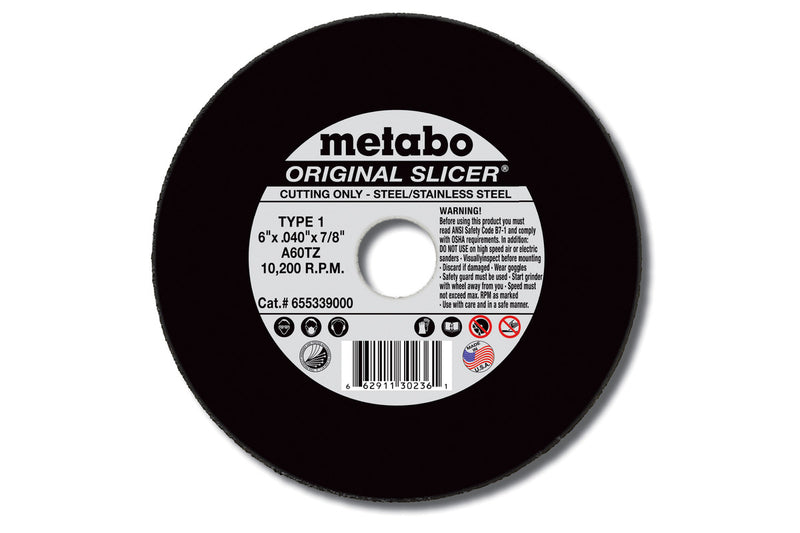 "Metabo 655347000 6"" X .045"" X 7/8"" - A60TZ Original Slicer, 15 Pcs/Pack (Pack of 50)"