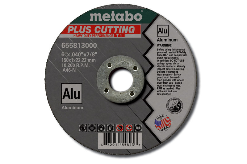 "Metabo 655823000 6"" X .040"" X 7/8"" - A46N Slicer Plus Alu, 8 Pcs/Pack (Pack of 50)"