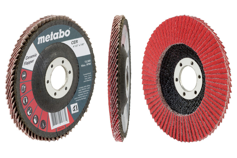 "Metabo 629494000 4 1/2"" Ceramic Flapper 60 7/8 T27 Fiberglass (Pack of 10)"