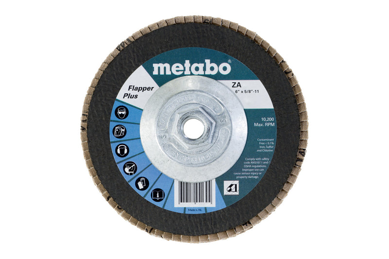 "Metabo 629412000 6"" Flapper Plus 40 5/8""-11 T29 Fiberglass, 5 Pcs/Pack (Pack of 5)"