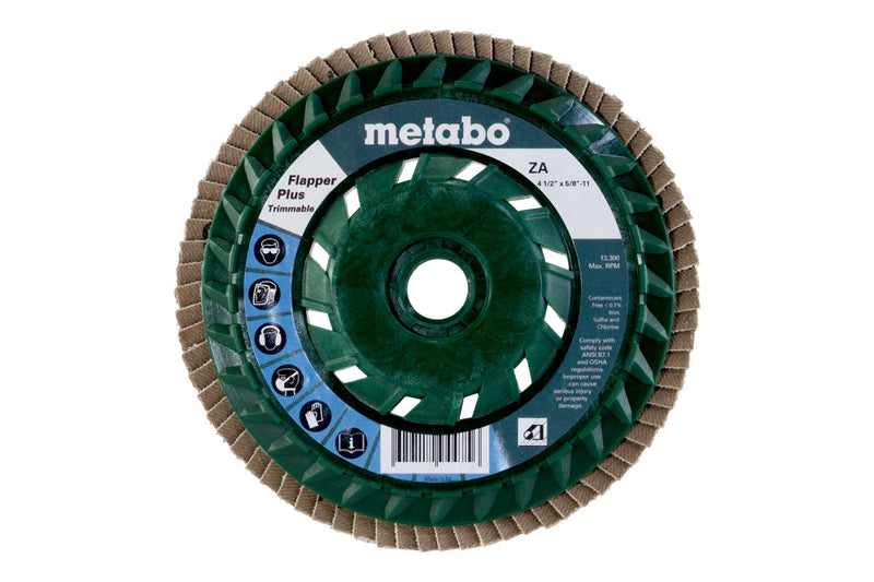 "Metabo 629448000 4 1/2"" Flapper Plus 80 5/8""-11 T29 Trimmable (PB), 5 Pcs/Pack (Pack of 5)"