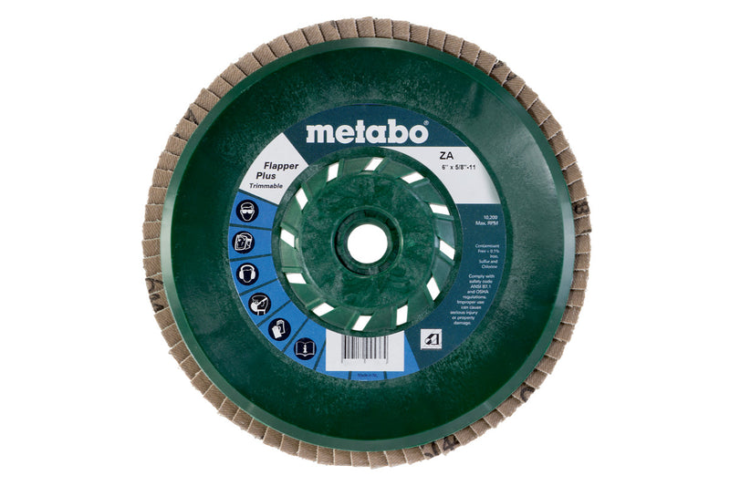 "Metabo 629453000 6"" Flapper Plus 60 5/8""-11 T29 Trimmable (PB), 4 Pcs/Pack (Pack of 5)"