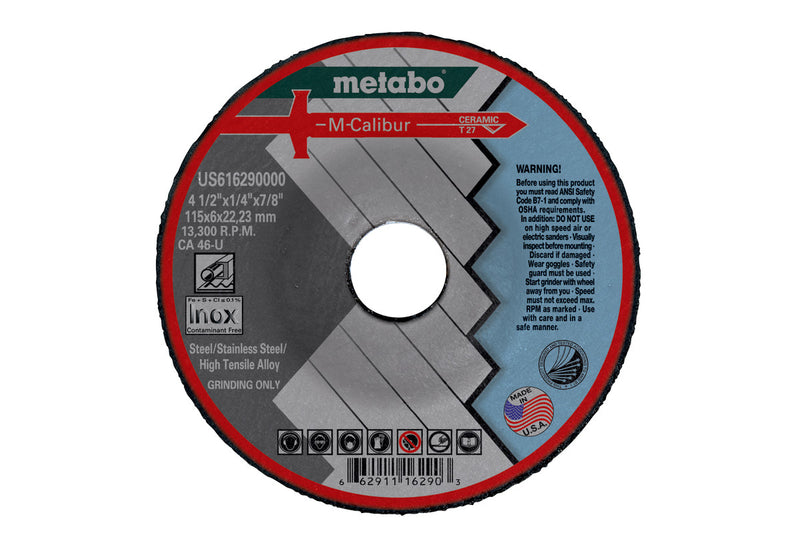 "Metabo US616290000 4-1/2"" X 1/4 X 7/8 - CA46U M-Calibur T27, 3 Pcs/Pack (Pack of 10)"
