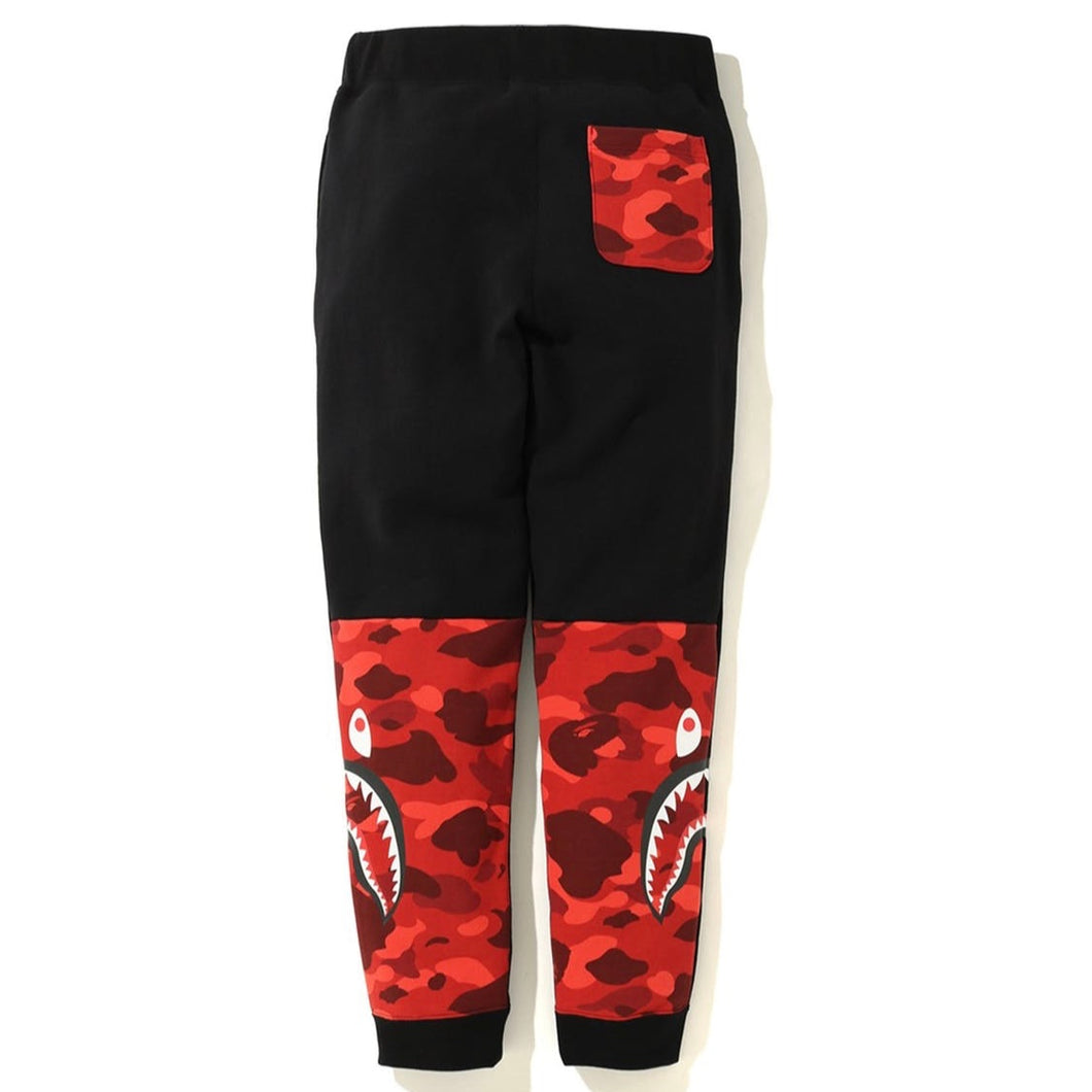 BAPE Color Camo Side Shark Slim Sweat Pants Black/Red