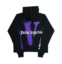 Load image into Gallery viewer, Vlone X Palm Angels Hoodie Black/Purple