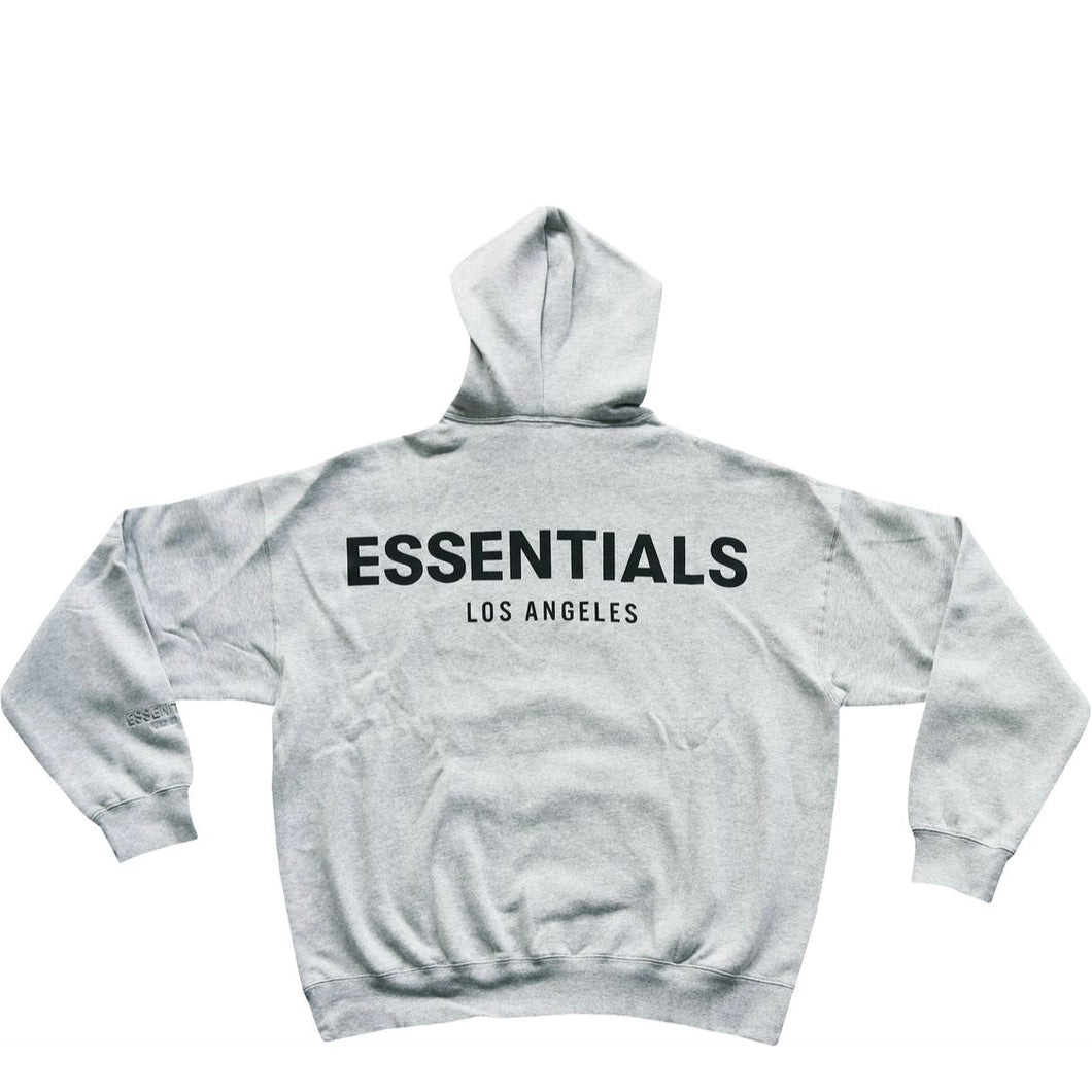 FEAR OF GOD ESSENTIALS Los Angeles 3M Pullover Hoodie Grey