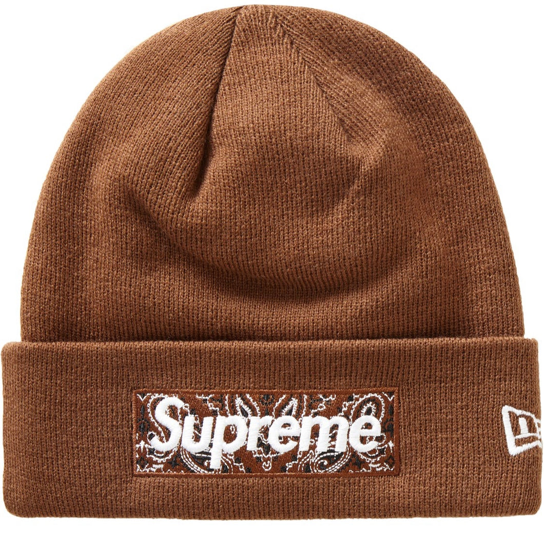 Supreme New Era Box Logo Beanie (FW19) Dark Brown