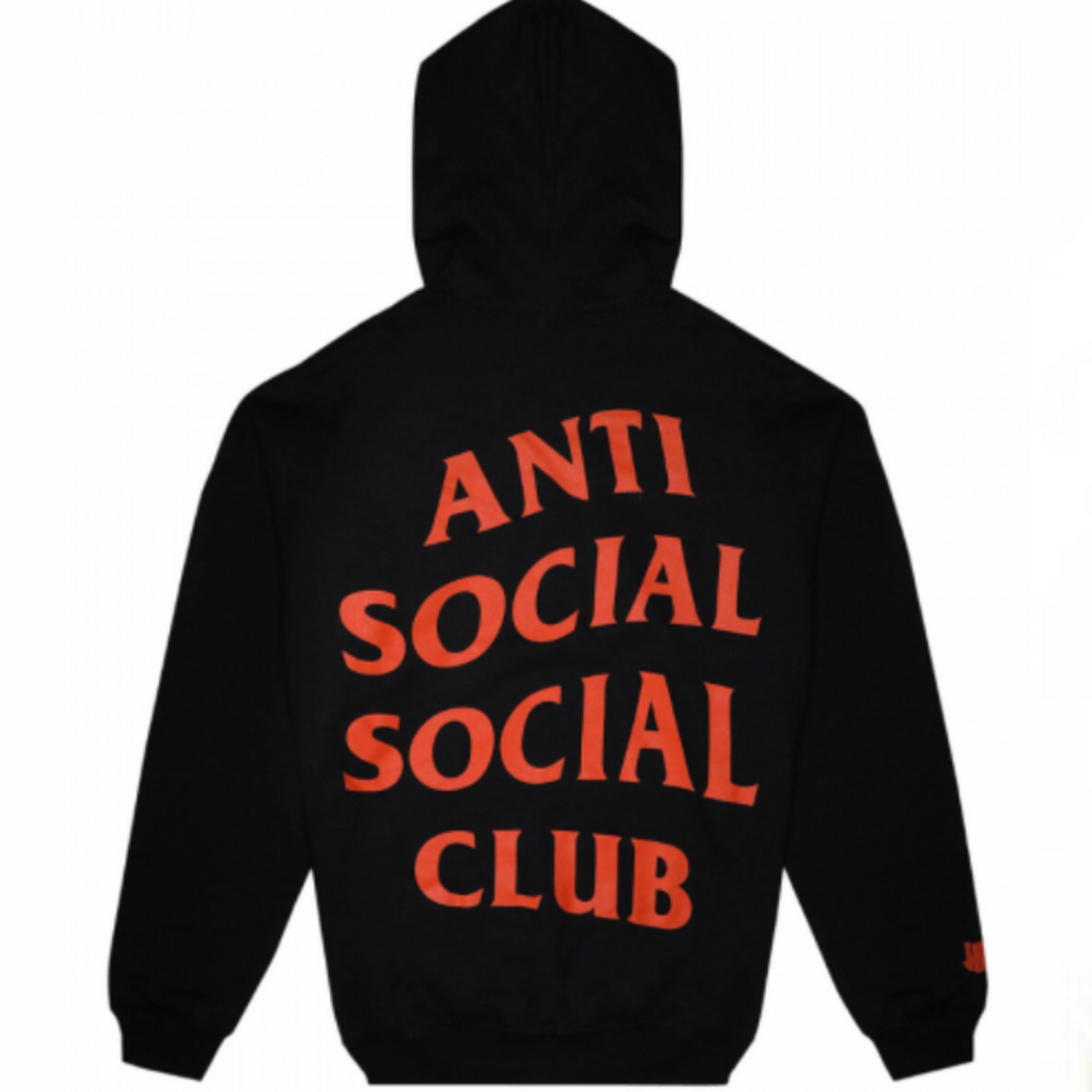 Anti social social club x undefeated black