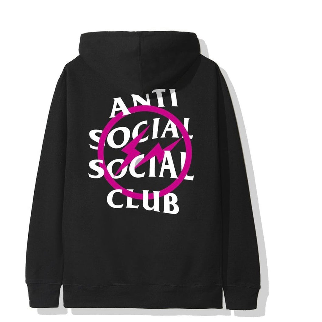 Anti social social club x fragment pink bolt