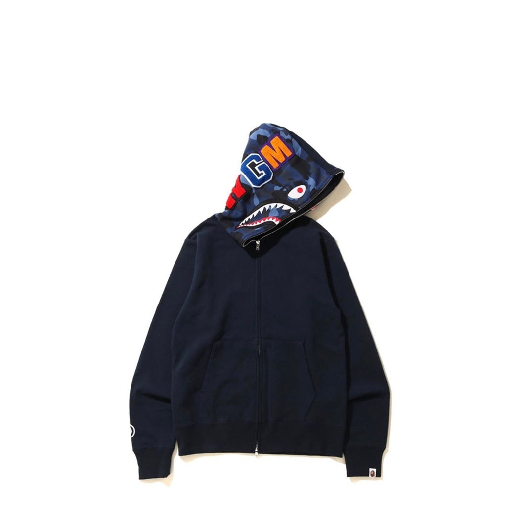 Bape shark full zip Navy