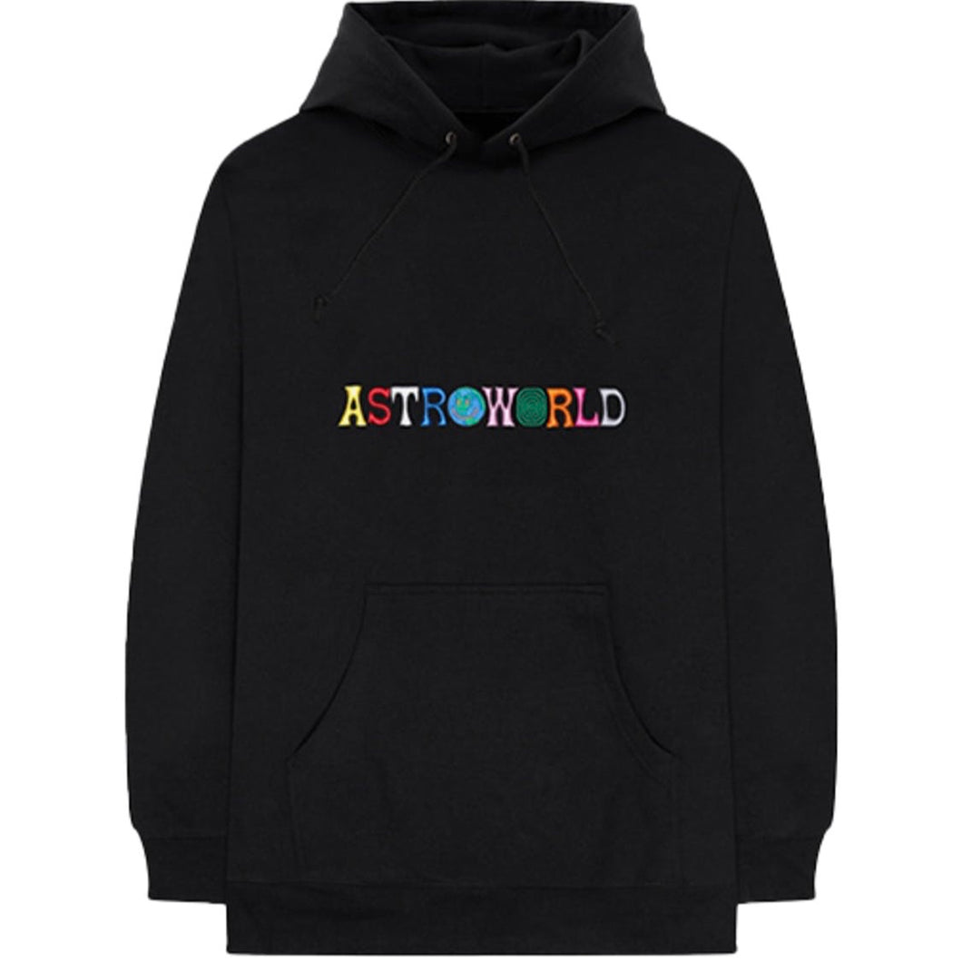 Travis scott astroworld logo hoodie black