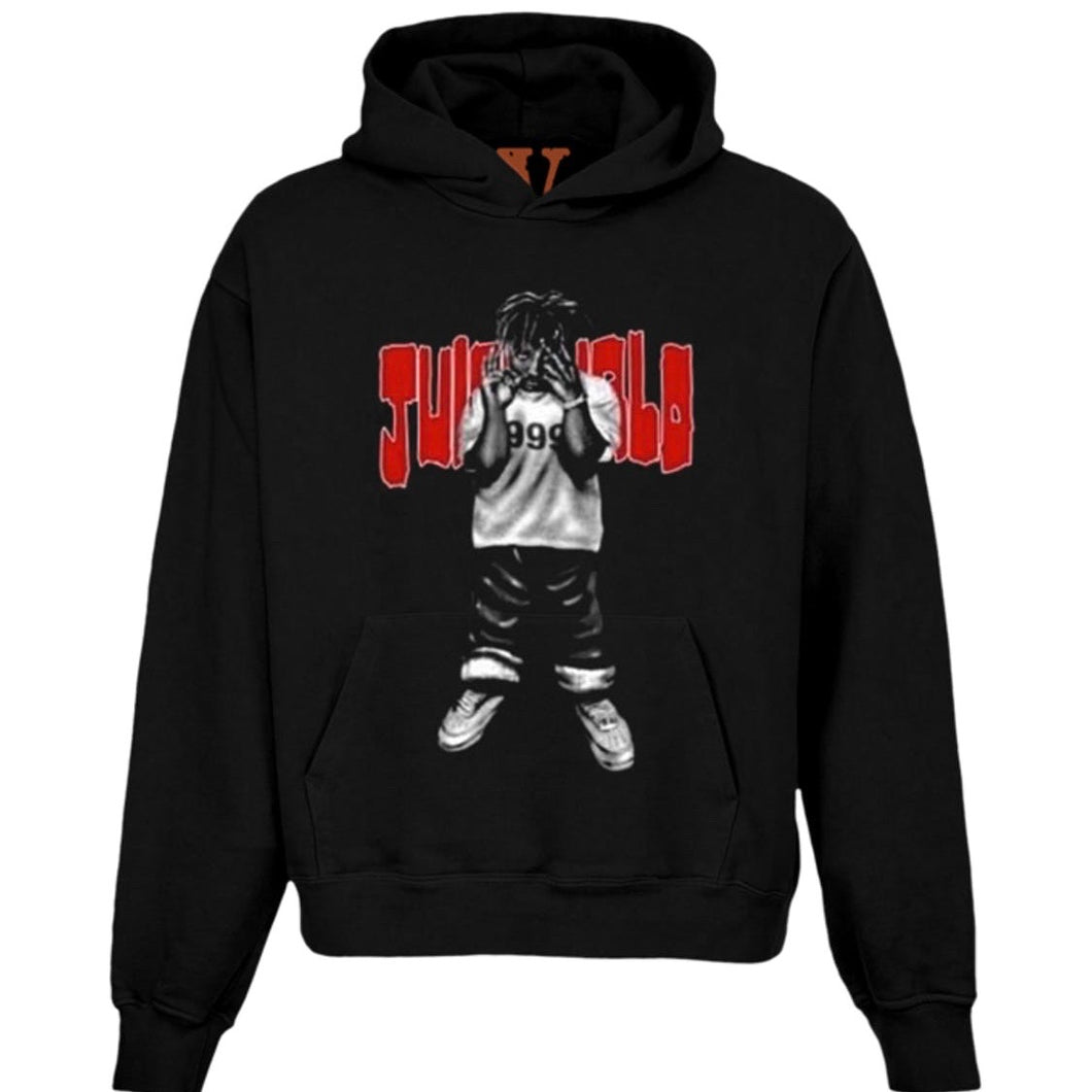 Juice Wrld x Vlone Man of the Year Hoodie Black