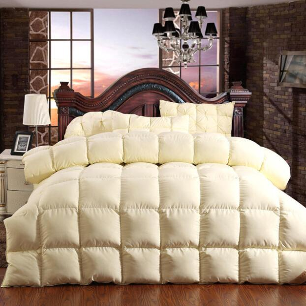 100% Goose Down Comforter Duvet Winter Down Blanket Feather Bed Soft Winter Quilted Quilt Blanket 150*200 Cotton Cover Comforter