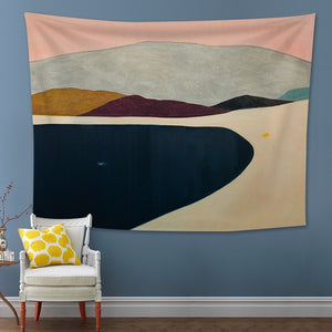 Psychedelic Mountain Tapestry Wall Hanging Contrast Color Mountain Landscape Tapestries Wall Hanging Tapestries Wall Art Blanket