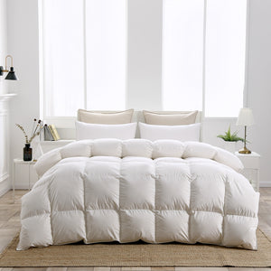 TUTUBIRD Goose Down Duvet Winter Comforter White Blanket Cotton Cover Quilt Super King Queen Double Twin Size Free Shipping