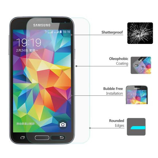 MaiQii™ Samsung Galaxy S5 Tempered Glass Screen Protector (0.33mm)