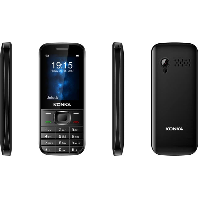 Konka KU9 3G tri-Band big button mobile phone for senior black