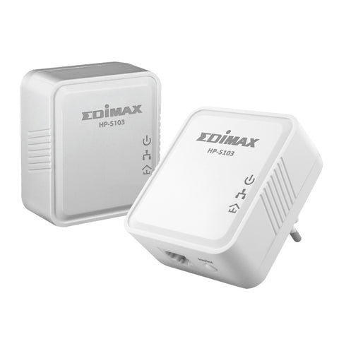 Edimax HP-5103K AV500 Mini Powerline Adapter Starter Kit