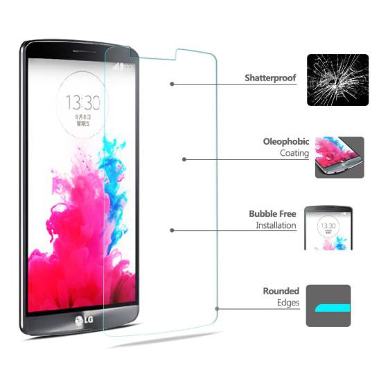 CoolReall™ LG Optimus G3 D858 5.5 INCH Tempered Glass Screen Protector Film (0.33mm)