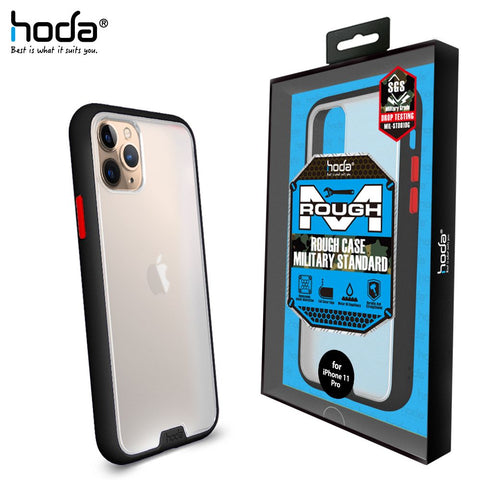 HODA ROUGH MILITARY STANDARD PROTECTION CASE FOR APPLE iPhone 11 Series BLACK