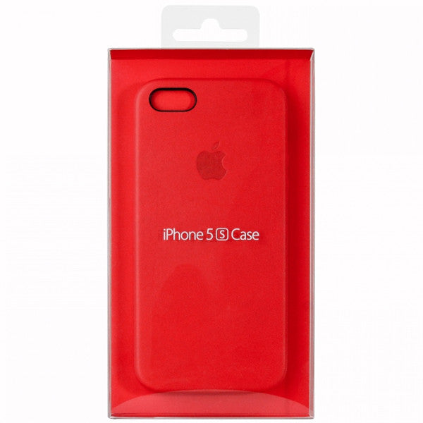 Original Apple Red Leather Case For iPhone 5 5s SE in sealed retail package